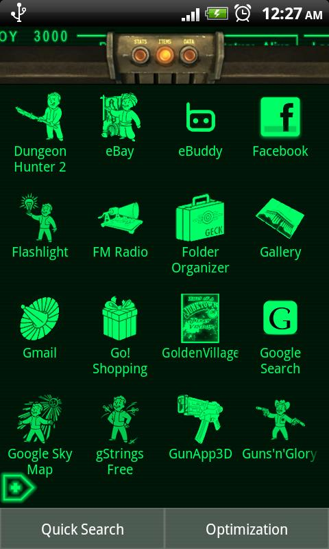 pipboy 3000 fallout 3 theme androidapplications
