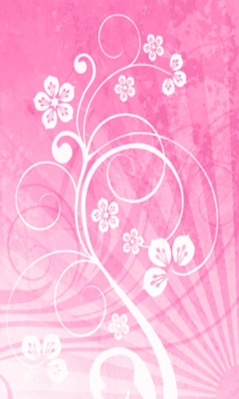 Pink Flower Ray Live Wallpaper