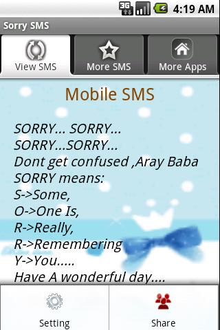 Sorry Sms Androidapplications Com