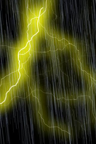 Yellow Lightning Storm LWP | AndroidApplications.com